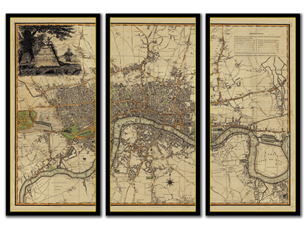 Beautiful Hand Made Reproduction Maps and Prints