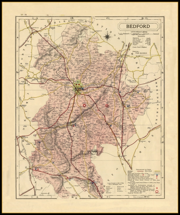 County Map Of England.Antique County Maps England