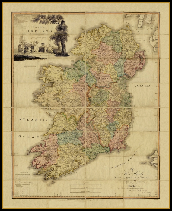 Oldest Map Of Ireland.All Products Available At Old Folding Maps