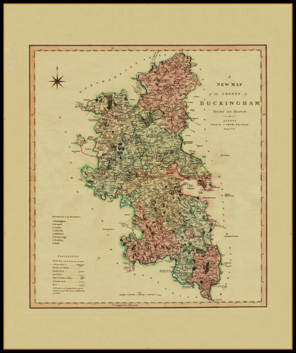 Art Prints Antique County Map Of Buckinghamshire By John Cary 1787 Old Chart Reasonable Price