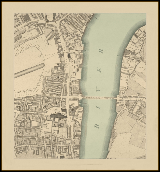 The Mall London Map.Horwood S Plan Of The Cities Of London Westminster Circa 1799