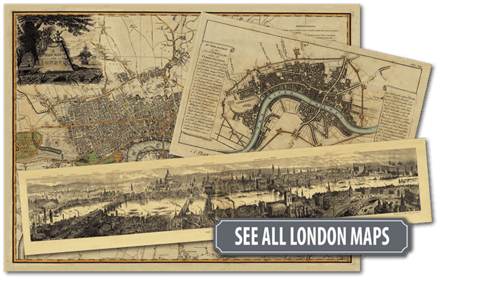 Original Rare, Historic London Maps and Charts