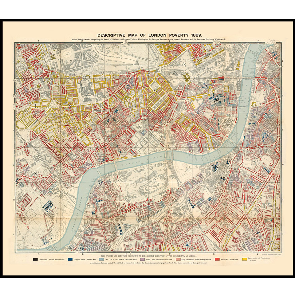 Original antique and re-issue maps of London, the United