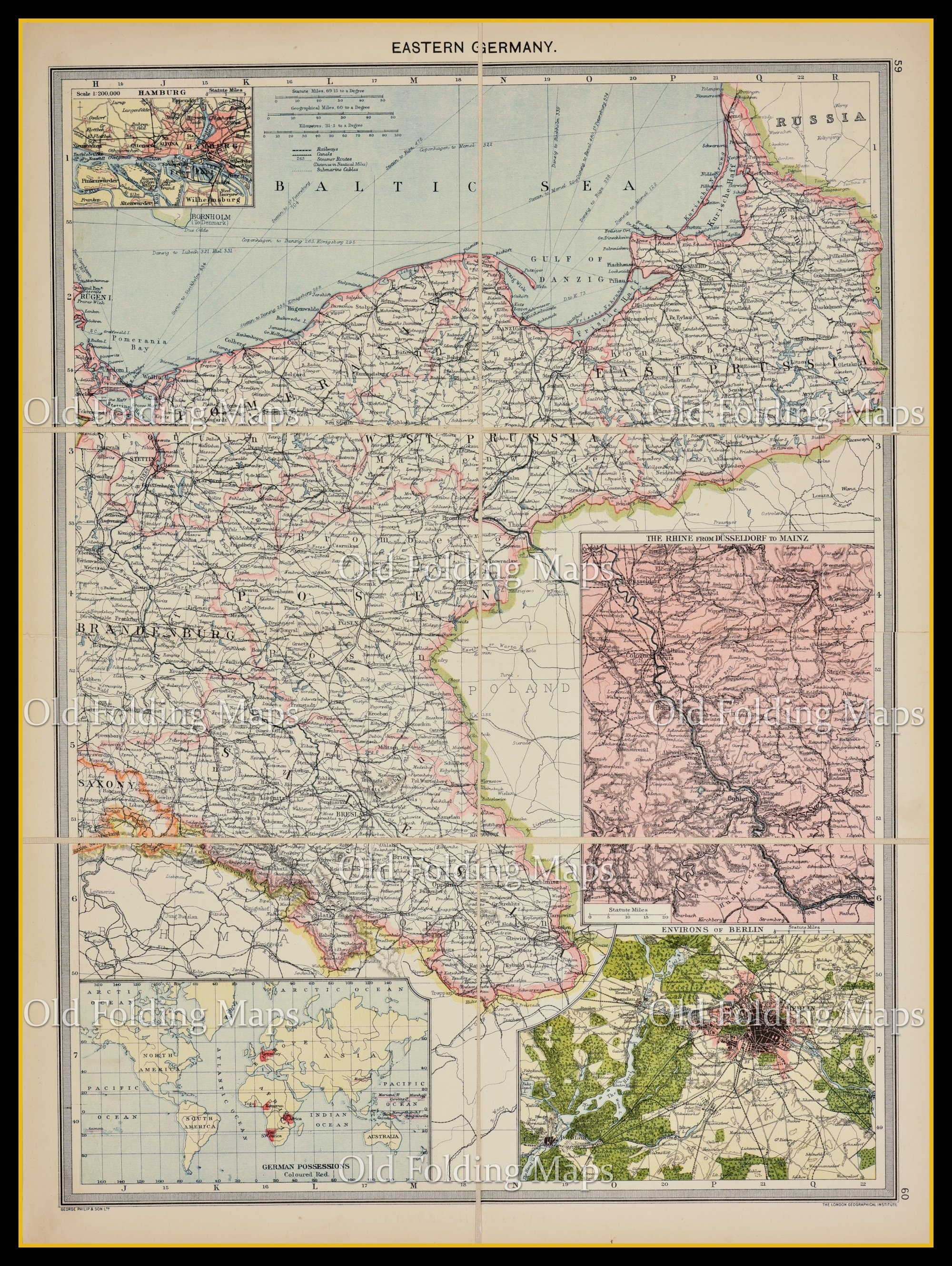 Map Of Old Germany.Old Map Of Eastern Germany Circa 1900