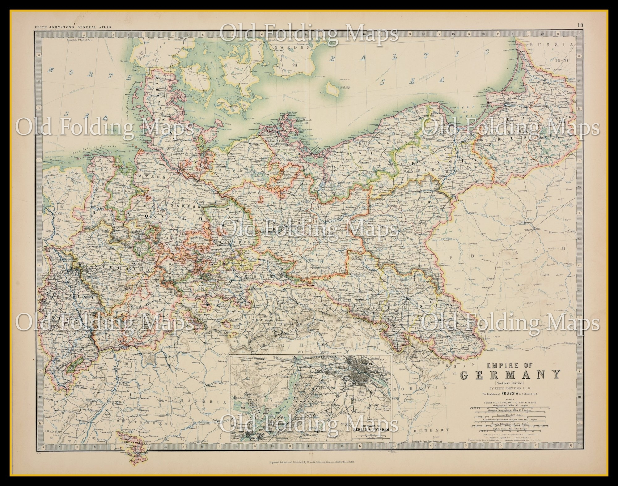 An Antique Map of Germany