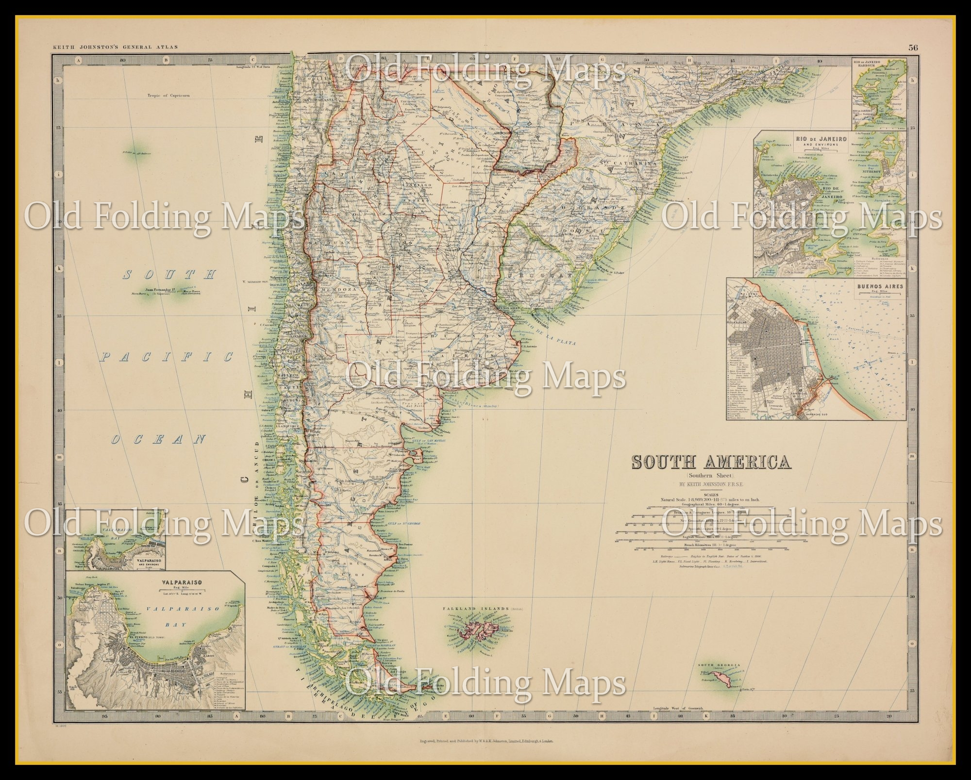 An Antique Map of South America South