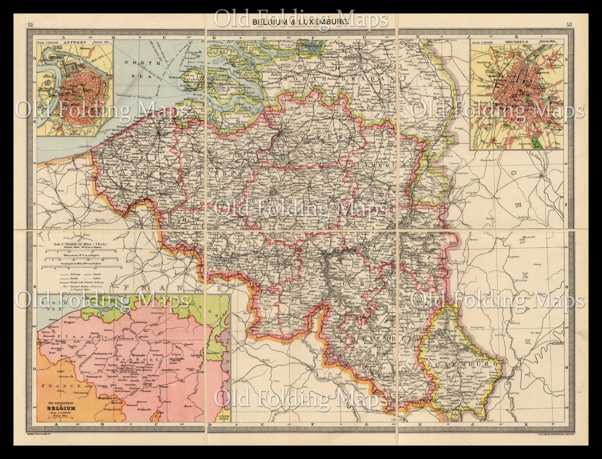 Map Of Germany Circa 1900.Old Map Of Belgium Luxembourg Circa 1900