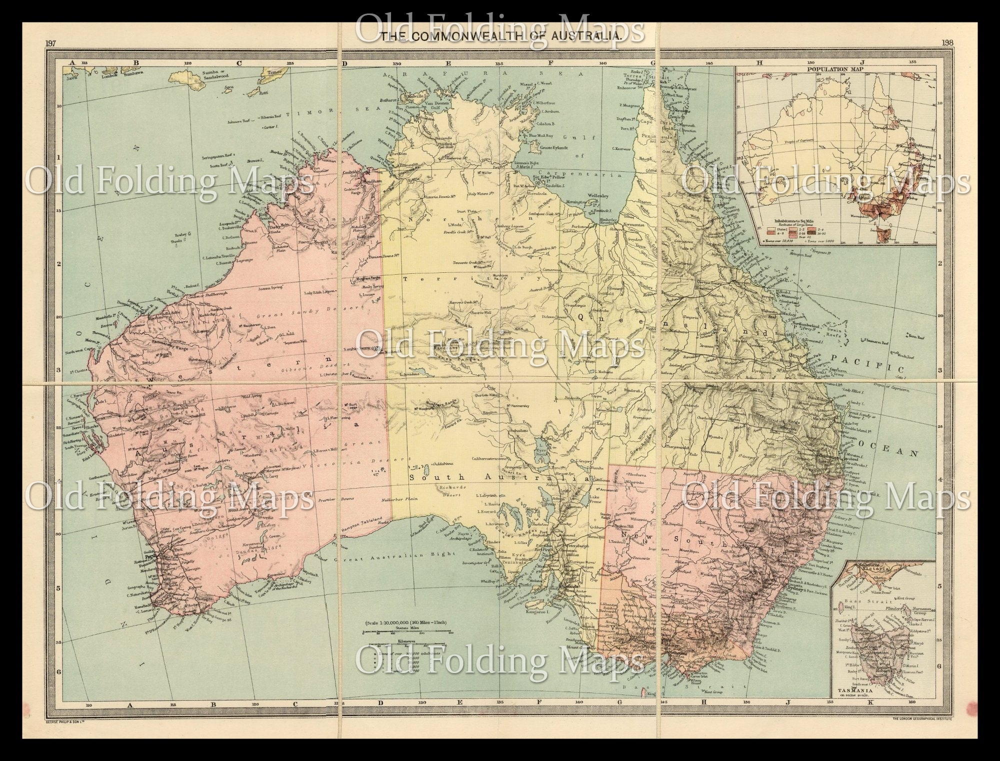 Australia Map 1900.Old Map Of The Commonwealth Of Australia Circa 1900