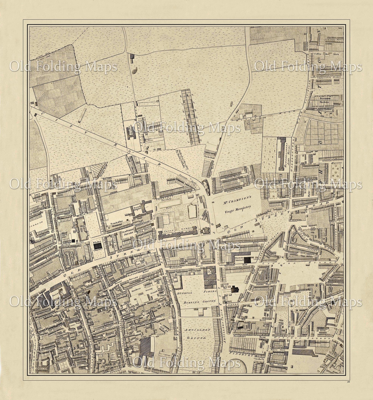 Old Street London Map.Old London Map Old Street Hoxton Square Chatham Gardens